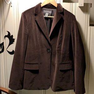 Banana Republic brown velvet blazer size 14
